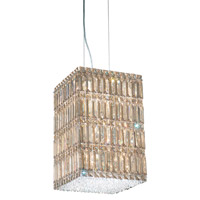 Schonbek Quantum 13 Light Pendant in Stainless Steel and Golden Shadow Swarovski Elements Trim 2287GS