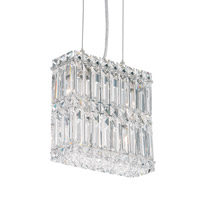 Schonbek Quantum 4 Light Pendant in Stainless Steel and Clear Spectra Crystal Trim 2290A