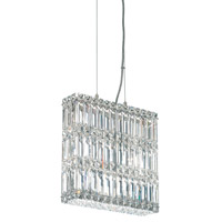 Schonbek Quantum 7 Light Pendant in Stainless Steel and Clear Spectra Crystal Trim 2291A