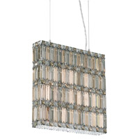 Schonbek Quantum 11 Light Pendant in Stainless Steel and Silver Teak Swarovski Elements Trim 2292ST photo thumbnail