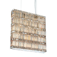 Schonbek Quantum 14 Light Pendant in Stainless Steel and Golden Shadow Swarovski Elements Trim 2293GS