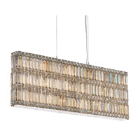 Schonbek Quantum 19 Light Pendant in Stainless Steel and Golden Shadow Swarovski Elements Trim 2296GS