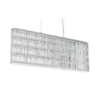 Quantum 25 Light 48 inch Stainless Steel Pendant Ceiling Light in Clear Spectra Crystal