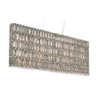 Schonbek Quantum 37 Light Pendant in Stainless Steel and Silver Teak Swarovski Elements Trim 2298ST photo thumbnail