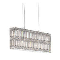 Schonbek Quantum 9 Light Pendant in Stainless Steel and Silver Shade Swarovski Elements Trim 2263SH