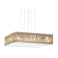 Schonbek Quantum 16 Light Pendant in Stainless Steel and Golden Shadow Swarovski Elements Trim 2272GS
