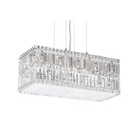 Schonbek Quantum 18 Light Pendant in Stainless Steel and Clear Spectra Crystal Trim 2280A