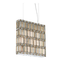 Schonbek Quantum 11 Light Pendant in Stainless Steel and Silver Teak Swarovski Elements Trim 2292ST