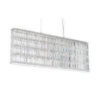 Schonbek Quantum 25 Light Pendant in Stainless Steel and Clear Spectra Crystal Trim 2297A