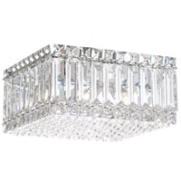 Quantum 4 Light 10 inch Stainless Steel Flush Mount Ceiling Light in Clear Spectra