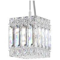 Schonbek 2245S Quantum 2 Light 4 inch Stainless Steel Pendant Ceiling Light in Clear Swarovski