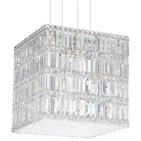 Schonbek 2248S Quantum 21 Light 17 inch Stainless Steel Pendant Ceiling Light in Clear Swarovski