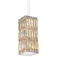 Schonbek 2252A Quantum 6 Light 6 inch Stainless Steel Pendant Ceiling Light in Clear Spectra