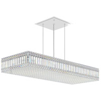 Schonbek 2274A Quantum 23 Light 39 inch Stainless Steel Pendant Ceiling Light in Clear Spectra