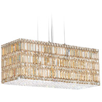 Quantum 22 Light 30 inch Stainless Steel Pendant Ceiling Light in Golden Shadow