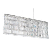 Schonbek 2297A Quantum 25 Light 48 inch Stainless Steel Pendant Ceiling Light in Clear Spectra