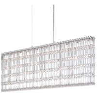 Schonbek 2298A Quantum 37 Light 59 inch Stainless Steel Pendant Ceiling Light in Clear Spectra