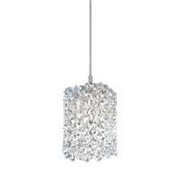 Schonbek Refrax 1 Light Pendant in Stainless Steel and Clear Spectra Crystal Trim RE0405A