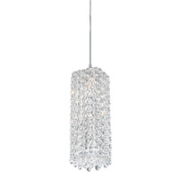 Schonbek Refrax 1 Light Pendant in Stainless Steel and Clear Spectra Crystal Trim RE0409A