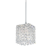 Schonbek Refrax 1 Light Pendant in Stainless Steel and Clear Spectra Crystal Trim RE0505A