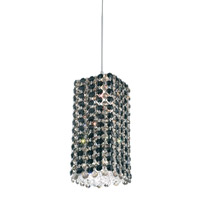 Schonbek Refrax 1 Light Pendant in Stainless Steel and Jaguar Swarovski Elements Trim RE0509JAG