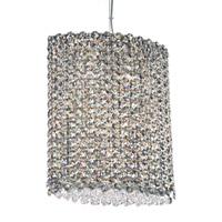 Schonbek Refrax 6 Light Pendant in Stainless Steel and Golden Teak Swarovski Elements Trim RE1012TK