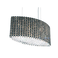 Schonbek Refrax 9 Light Pendant in Stainless Steel and Jaguar Swarovski Elements Trim RE2109JAG