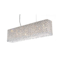 Schonbek Refrax 7 Light Pendant in Stainless Steel and Clear Spectra Crystal Trim RE2506A