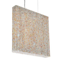 Schonbek Refrax 11 Light Pendant in Stainless Steel and Sun Dance Swarovski Elements Trim RE2524SUN photo thumbnail