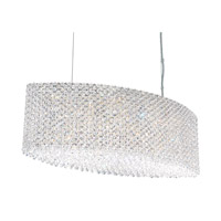 Schonbek Refrax 17 Light Pendant in Stainless Steel and Clear Spectra Crystal Trim RE2809A photo thumbnail