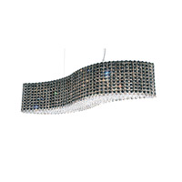 Refrax 13 Light 32 inch Stainless Steel Pendant Ceiling Light in Jaguar, Geometrix,Canopy Sold Separately