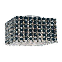 Schonbek Refrax 4 Light Flush Mount in Stainless Steel and Jaguar Swarovski Elements Trim REC0805JAG