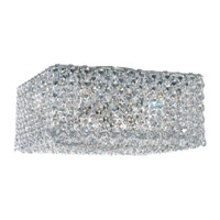 Refrax 4 Light 10 inch Stainless Steel Flush Mount Ceiling Light in Clear Spectra Crystal