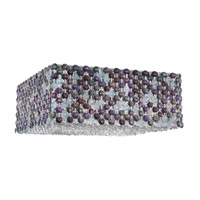 Schonbek Refrax 4 Light Flush Mount in Stainless Steel and Brandywine Swarovski Elements Trim REC1205BRA