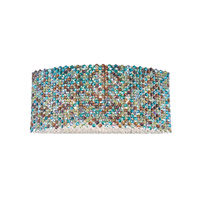 Schonbek Refrax 6 Light Wall Sconce in Stainless Steel and Peacock Swarovski Elements Trim REW2109PEA