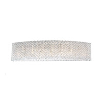 Schonbek Refrax 9 Light Wall Sconce in Stainless Steel and Crystal Swarovski Elements Trim REW2806S