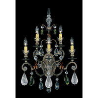 Schonbek Renaissance Rock 5 Light Wall Sconce in Etruscan Gold and Olivine & Smoke Topaz Crystal Rock Crystal Colors Trim 3563-23OS