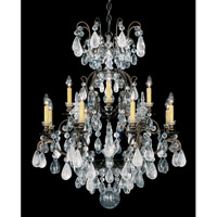Schonbek Renaissance Rock + Cryst 12 + 1 Light Pendant in Heirloom Bronze and Rock/Color/Cl Crystal 3572-76CL