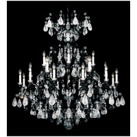 Schonbek Renaissance Rock 25 Light Chandelier in Wet Black and Jet Black Rock Crystal Colors Trim 3574-55BK