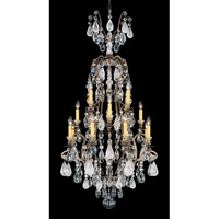 Schonbek Renaissance Rock + Cryst 16 + 1 Light Chandelier in Etruscan Gold and Rock/Color/Cl Crystal 3582-23CL