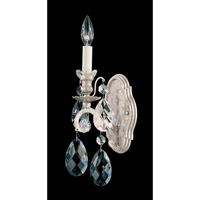 Renaissance 1 Light 6 inch Antique Silver Wall Sconce Wall Light in Clear Heritage