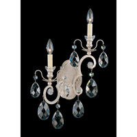 Schonbek Renaissance 2 Light Wall Sconce in Antique Silver and Clear Heritage Handcut Trim 3758-48