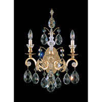 Schonbek Renaissance 2 Light Wall Sconce in Heirloom Gold and Clear Heritage Handcut Trim 3761-22
