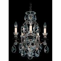 Schonbek Renaissance 5 Light Chandelier in Heirloom Bronze and Clear Heritage Handcut Trim 3769-76