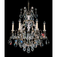 Schonbek Renaissance 7 Light Chandelier in Bronze Umber and Clear Heritage Handcut Trim 3770-75