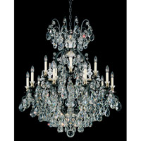 Schonbek Renaissance 16 Light Chandelier in Black and Clear Heritage Handcut Trim 3773-51