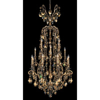 Schonbek Renaissance 17 Light Chandelier in Etruscan Gold and Golden Teak Swarovski Elements Colors Trim 3782-23TK