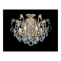Schonbek Renaissance 6 Light Chandelier in Heirloom Gold and Clear Heritage Handcut Trim 3784-22
