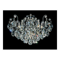 Schonbek Renaissance 8 Light Chandelier in Black and Clear Heritage Handcut Trim 3785-51