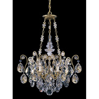 Schonbek Renaissance 6 Light Chandelier in Heirloom Gold and Clear Heritage Handcut Trim 3786-22